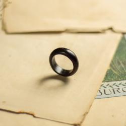 obrączka,drewniana obrączka,dla niego - Pierścionki - Biżuteria