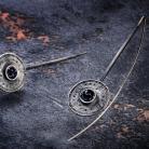 Kolczyki teksturowane kolczyki w stylu tribal glamour