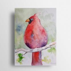 akwarela,ptak - Obrazy - Wyposażenie wnętrz
