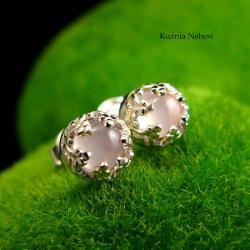 nehesi,kolczyki,srebrne,różowym,wkrętki,sztyfty - Kolczyki - Biżuteria