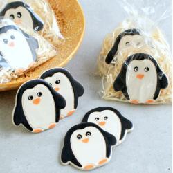 magnesy świąteczne,pingwiny,ozdoby świąteczne - Ceramika i szkło - Wyposażenie wnętrz