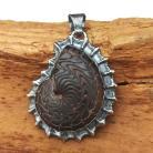 Wisiory amonit,srebrny,srebro,kamienny,szary,srebrny,styl