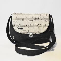 torebka w nuty,torebka muzyczna,torebka retro - Na ramię - Torebki