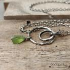 Naszyjniki długi,surowy kamień,srebrny,nowoczesny