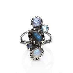 labradoryt,pierścionek - Pierścionki - Biżuteria