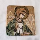 Ceramika i szkło Beata Kmieć,ikona ceramiczna,Archanioł,Anioł
