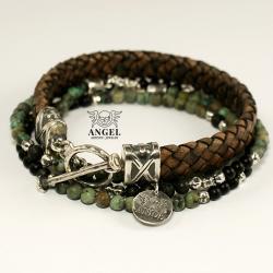 komplet bransolet,biżuteria męska - Dla mężczyzn - Biżuteria
