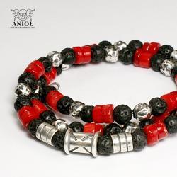naszyjnik męski,koral,koraliki - Dla mężczyzn - Biżuteria