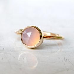 pierścionek,kwarc różowy, - Pierścionki - Biżuteria