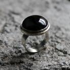 Pierścionki pierścionek srebro onyks