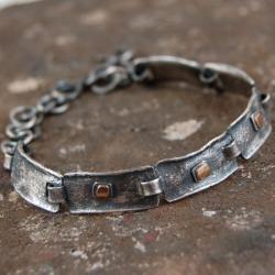 bransoleta ze srebra i złota - Bransoletki - Biżuteria