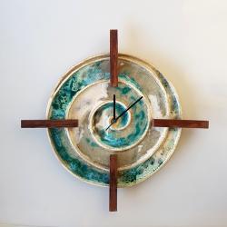 Zegar ścienny - Ceramika i szkło - Wyposażenie wnętrz