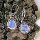 Kolczyki kolczyki srebrne z kamieniami księżycowymi