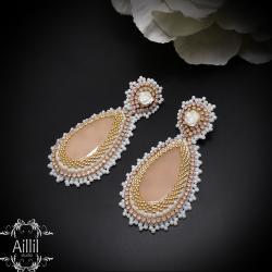 eleganckie,romantyczne,kobiece,pastelowe - Kolczyki - Biżuteria