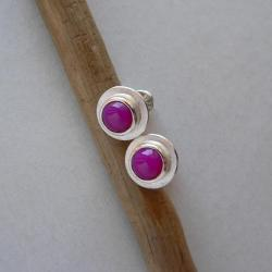 okrągłe kolczyki,z agatem, - Kolczyki - Biżuteria