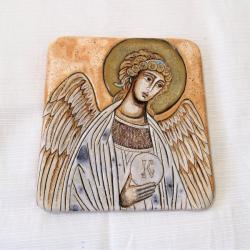 Beata Kmieć,anioł,Stróż,ikona ceramiczna - Ceramika i szkło - Wyposażenie wnętrz