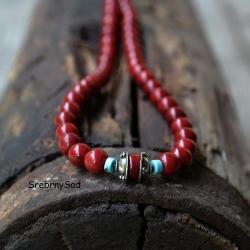 naszyjnik z korala,czerwony naszyjnik - Naszyjniki - Biżuteria