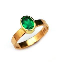 szmaragd,złoto,blask,żółty,retro,zieleń,zaręczyny - Pierścionki - Biżuteria