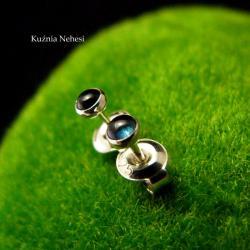 nehesi,kolczyki,srebrne,wkrętki,sztyfty,turmalinem - Kolczyki - Biżuteria