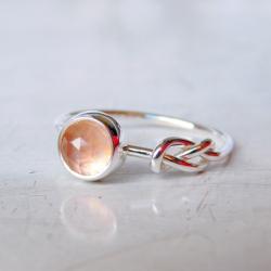 pierścionek,kwarc,kwarc różowy, - Pierścionki - Biżuteria