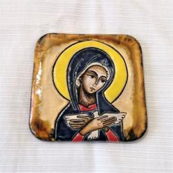 Beata Kmieć,ikona ceramiczna,Pneumatofora, - Ceramika i szkło - Wyposażenie wnętrz