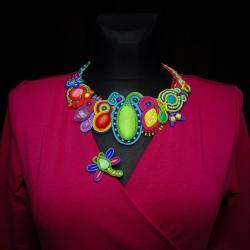 kolorowy naszyjnik,naszyjnik sutasz - Naszyjniki - Biżuteria