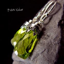 nehesi,kolczyki,srebre,srebra,zielone, - Kolczyki - Biżuteria