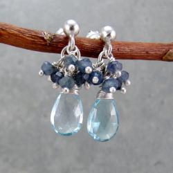 kolczyki gronka delikatne,romantyczne,krople - Kolczyki - Biżuteria