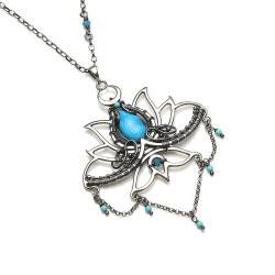 medytacja,kwiat lotosu,prezent - Naszyjniki - Biżuteria
