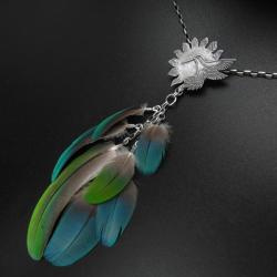 koliber,biżuteria,rękodzieło,srebrna biżuteria - Naszyjniki - Biżuteria