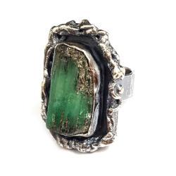 królewski pierścień ze szmaragdem,szmaragd - Pierścionki - Biżuteria