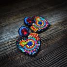 Kolczyki Frida Kahlo,kolczyki serca