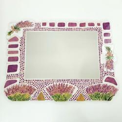 ceramika lustro dekor lawenda - Ceramika i szkło - Wyposażenie wnętrz