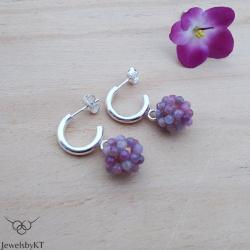 srebrne kolczyki,klasyczna biżuteria,rubiny - Kolczyki - Biżuteria