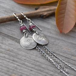 długie,surowe,z kamieniem szlachetnym - Kolczyki - Biżuteria