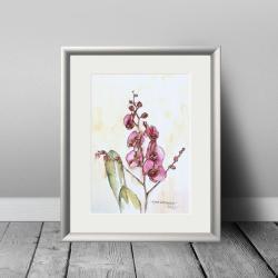 akwarela,kwiaty,malarstwo,sztuka,obraz,wnętrze - Ilustracje, rysunki, fotografia - Wyposażenie wnętrz