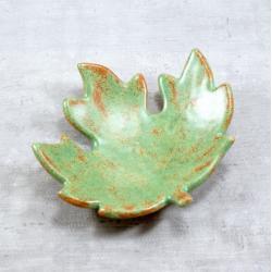 liść,jesienne,miseczka,fusetka,klon - Ceramika i szkło - Wyposażenie wnętrz