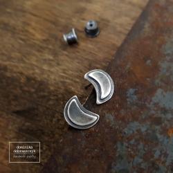 srebro,księżyc,oksydowane - Kolczyki - Biżuteria
