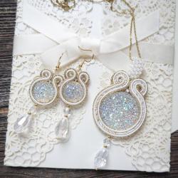 komplet ślubny,biżuteria slubna - Inne - Biżuteria