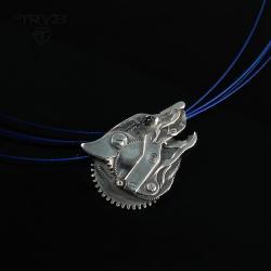 zawieszka wilk,srebrny wilk, - Wisiory - Biżuteria