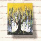Obrazy akryl,brokat,złoto,malarstwo,deszcz,drzewo