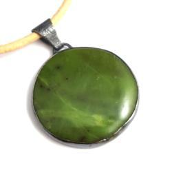 nefryt,zielony,wisior,srebro,srebrny,minerał - Wisiory - Biżuteria