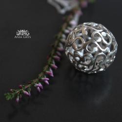 kula,kulka,ażurowa,srebrna,wisiorek,zawieszka - Wisiory - Biżuteria