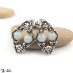 kolczyki,sztyfty,akwamaryn,błękitne,wkrętki,wrapy - Kolczyki - Biżuteria