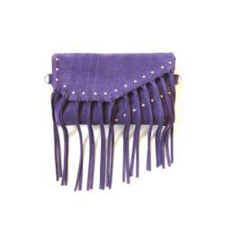 torba,torebka fioletowa,frędzle,kopertówka - Na ramię - Torebki