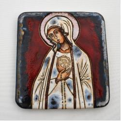 Beata Kmieć,ikona ceramiczna,Fatimska,Maryja - Ceramika i szkło - Wyposażenie wnętrz