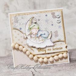 powitanie,narodziny,maleństwo,dziecko,chłopiec - Kartki okolicznościowe - Akcesoria