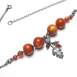 elegancki,jesień,natura - Naszyjniki - Biżuteria