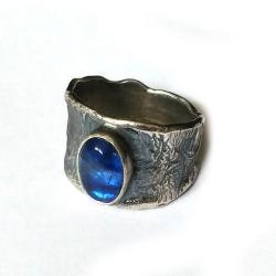 kyanit,blask,srebrny,szarości,blękitny,srebro - Pierścionki - Biżuteria
