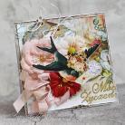 Kartki okolicznościowe kwiaty,ptaszek,urodziny,imieniny,życzenia
